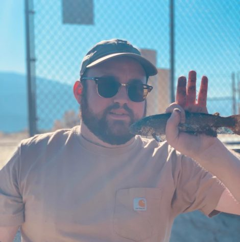 Returning RSP Teacher Scott Griset shows off his mad fishing skills in Lone Pine.