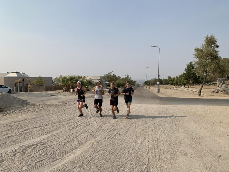 Boys Cross Country begins training for their early 2021 season.