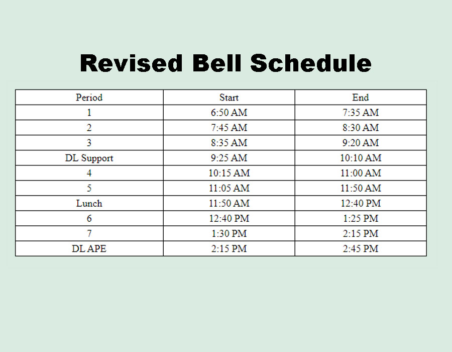 New+bell+schedule+in+place