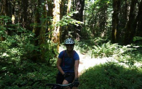 Gmitro enjoys mountain biking