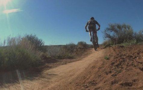 JC Coppersmith enjoys to trail bike