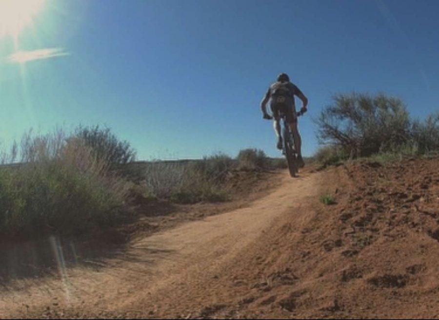 Junior JC Coppersmith enjoy to trail bike