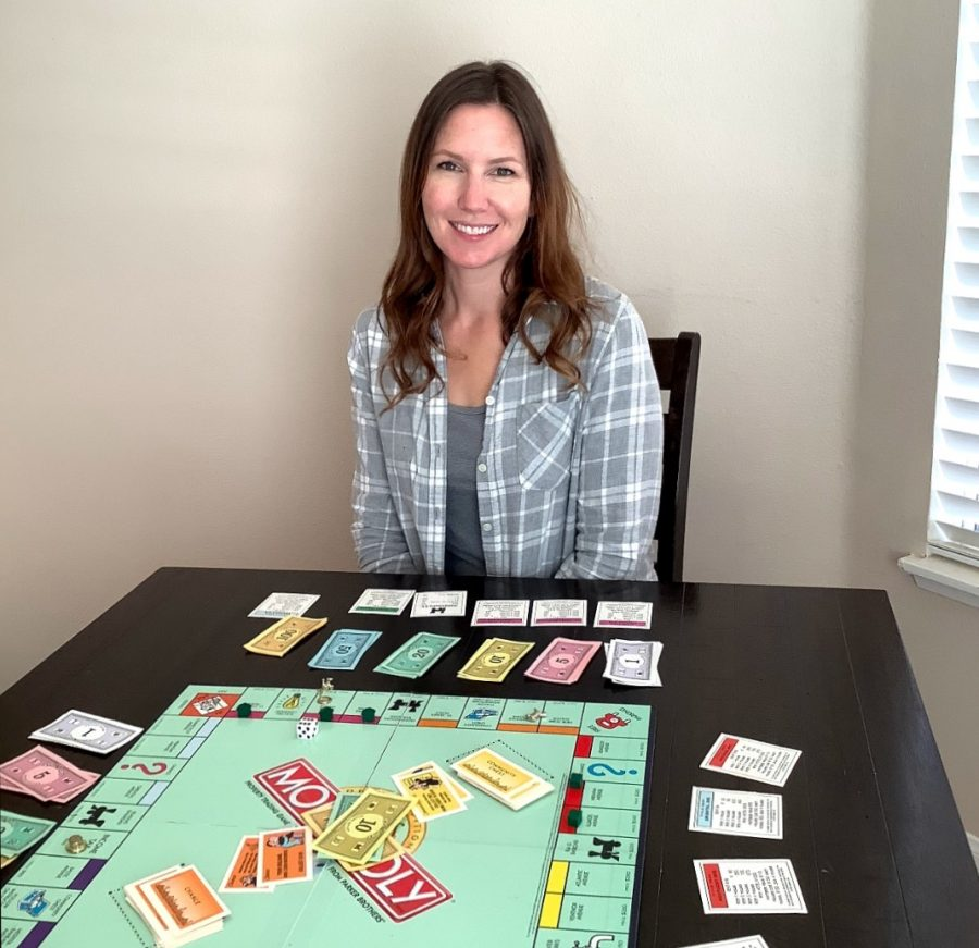 Math Teacher Katie Wadley spends her free time playing board games.