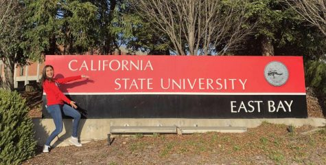 Burroughs graduate Madeline Acosta is happily enrolled at CSU East Bay.