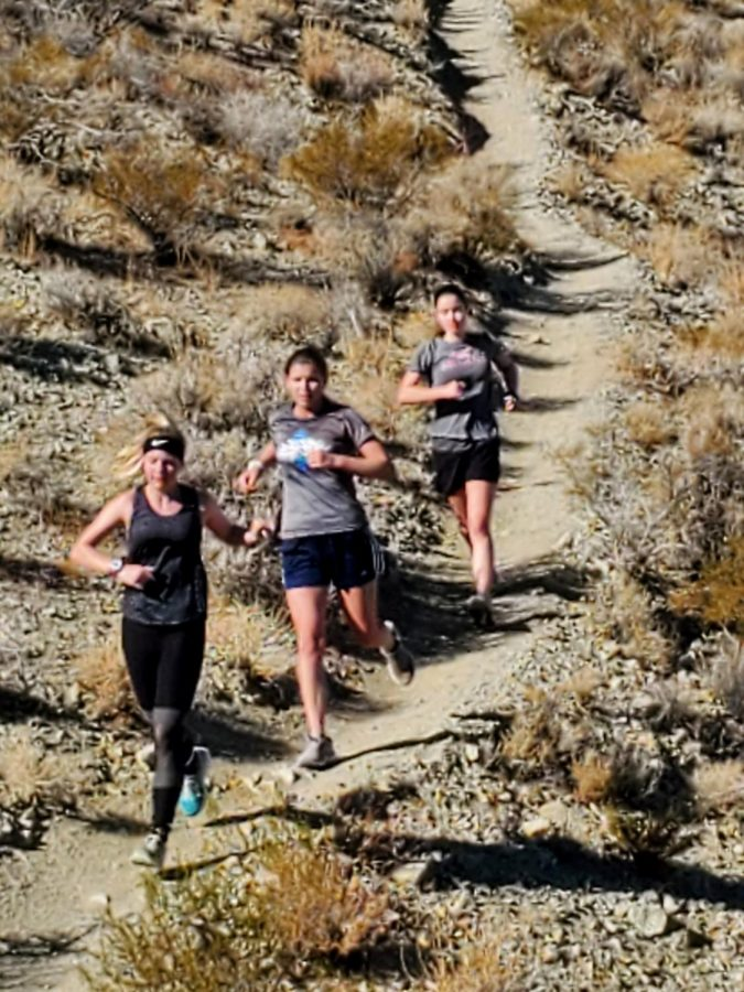 Leah, Lydia, and Elliotte are on their Saturday run at the Rademachers.