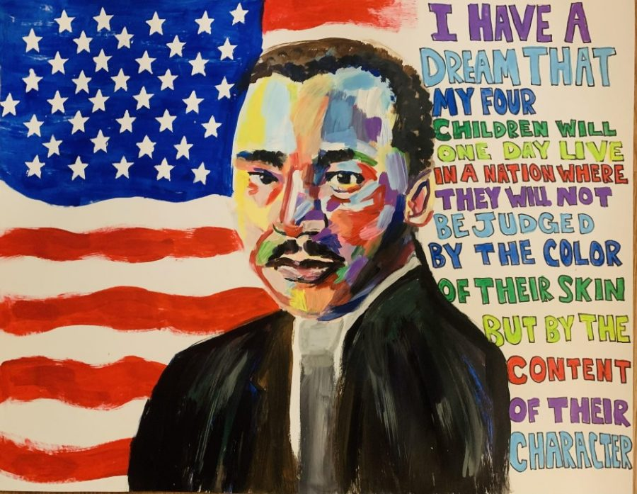 Art students honor Martin Luther King Jr.