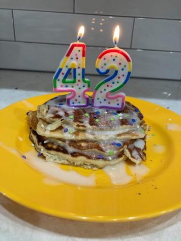 Our most recent attempt at Cake Batter pancakes using vanilla cake mix!
