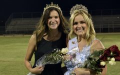 2020 Prom Queen Kylie Griffith joins this years Prom Queen Sierra Wood in celebrating Woods victory.