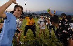 Burroughs students enjoy the ASB-organized kickback event on Friday, Aug. 13.
